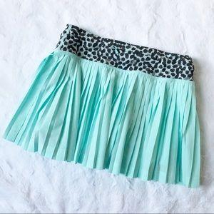 Lululemon Pleat to Street Teal Tennis Skirt